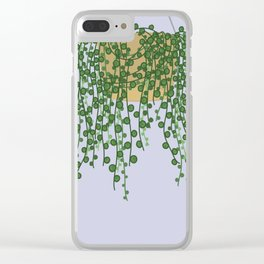 String of Pearls Plant Clear iPhone Case
