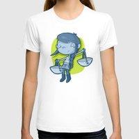 libra T-shirts featuring Libra by Chiara Zava