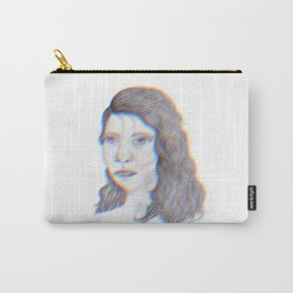 """SERIOUS - pencil illustration """"screen print"""" Carry-All Pouch"""