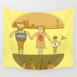 west coast tourists in a burger Wall Tapestry