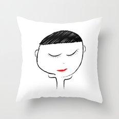 Mellow Girl Throw Pillow