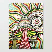 rasta Canvas Prints featuring Rasta by Marcela Caraballo