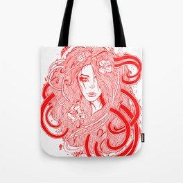 Rose Red.  Tote Bag