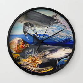 Against The Flow  Wall Clock