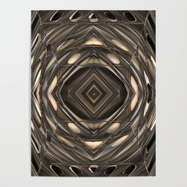 Architectural abstract in four-way symmetry of the Broad, Los Angeles, California Poster