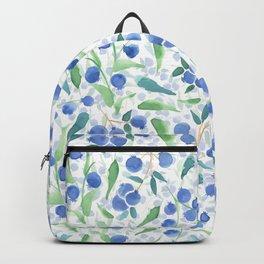 Watercolor Blueberries Backpack