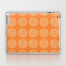 Circle stripes on orange Laptop & iPad Skin