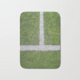 Sideline football field, Sideline chalk mark artificial grass soccer field Bath Mat