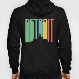 Retro 1970's Style Detroit Michigan Skyline Hoody