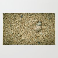 seashell Area & Throw Rugs featuring Seashell by Errne