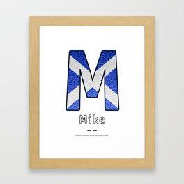 Mike - Navy Code Framed Art Print