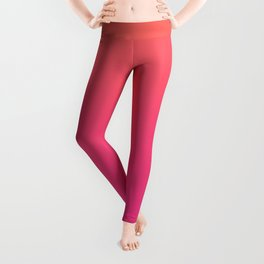 Coral Bright Pink Ombre Gradient Pattern Orange Peachy Soft Trendy Texture Leggings