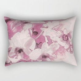 Flowers on the wall Rectangular Pillow