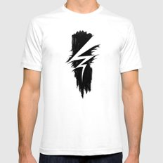 Lightning Arts Logo White SMALL Mens Fitted Tee