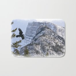 Mt Rundle & Raven (Canadian Rockies) Bath Mat