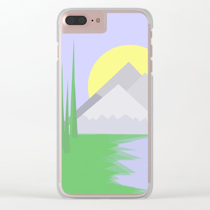 The mountains and the lake Clear iPhone Case