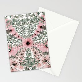 Spring watercolor flowers Stationery Cards