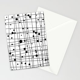 Woven Web black and white Stationery Cards
