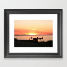 Long Island Sunset Framed Art Print