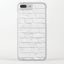 White Brick Wall Clear iPhone Case
