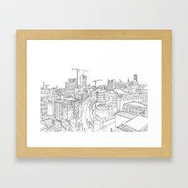 Manchester City Centre Framed Art Print
