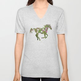 The horse is the meadow Unisex V-Neck