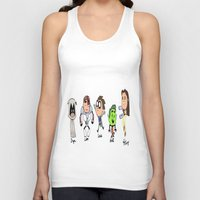 teen titans Tank Tops featuring one direction as the teen titans by Muggle Merch