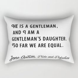 He is a gentleman.  Rectangular Pillow
