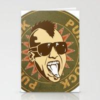 punk Stationery Cards featuring punk by mark ashkenazi