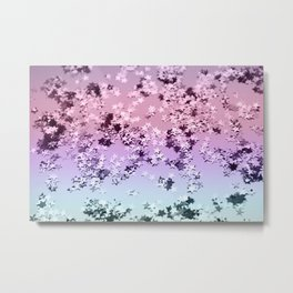 Unicorn Girls Glitter Stars #1 #shiny #pastel #decor #art #society6 Metal Print
