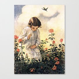 girl's hand Canvas Print