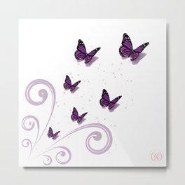 Blooming Butterflies Metal Print