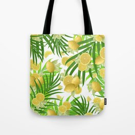 Summer Lemon Twist Jungle #2 #tropical #decor #art #society6 Tote Bag