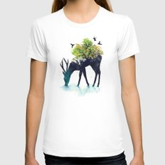 Watering (A Life Into Itself) White MEDIUM Womens Fitted Tee