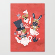 Mad Hatter's Tea Party - Alice in Wonderland Canvas Print