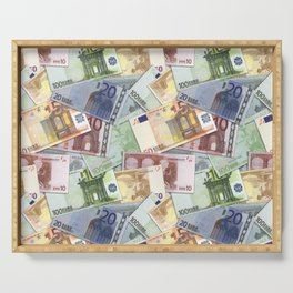 Art of the euro money Serving Tray