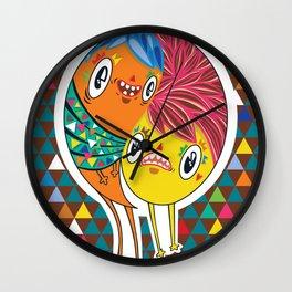 Polypop 2 Heads Wall Clock