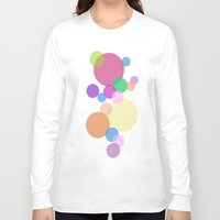 bubble Long Sleeve T-shirts featuring Bubble by Angela Capacchione