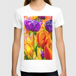 Colorful tulip flowers T-shirt
