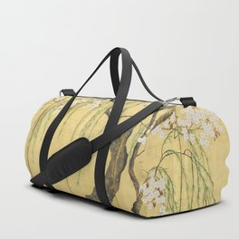 Cherry, Maple and Budding Willow Tree Duffle Bag