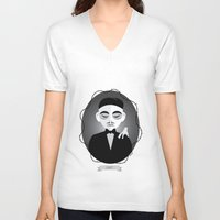selena gomez V-neck T-shirts featuring Gomez Addams by Love Ashley Designs