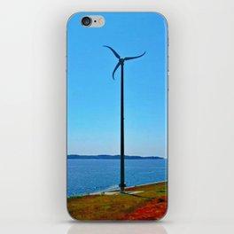 Wind turbine, Halifax, Nova Scotia iPhone Skin
