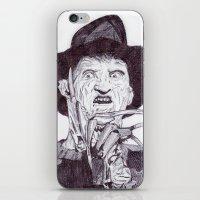 freddy krueger iPhone & iPod Skins featuring krueger by DeMoose_Art