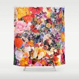 Garden Variety collage art Shower Curtain