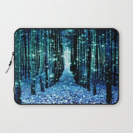 Magical Forest Teal Turquoise Laptop Sleeve