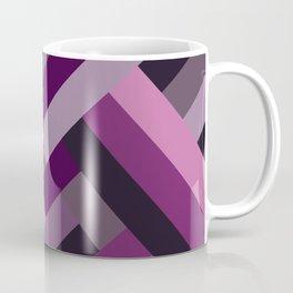 Lines of Purple Coffee Mug