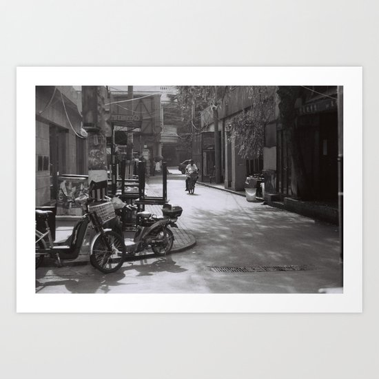 Beijing streets Art Print