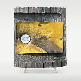 Gold Plate Shower Curtain