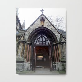 St. Mary Abbots South Porch Metal Print