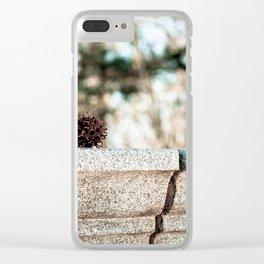 Granite Sitter Clear iPhone Case